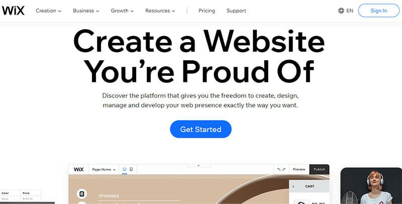 Wix is an Ecommerce Platform With a Versatile Collection of Website Building Features