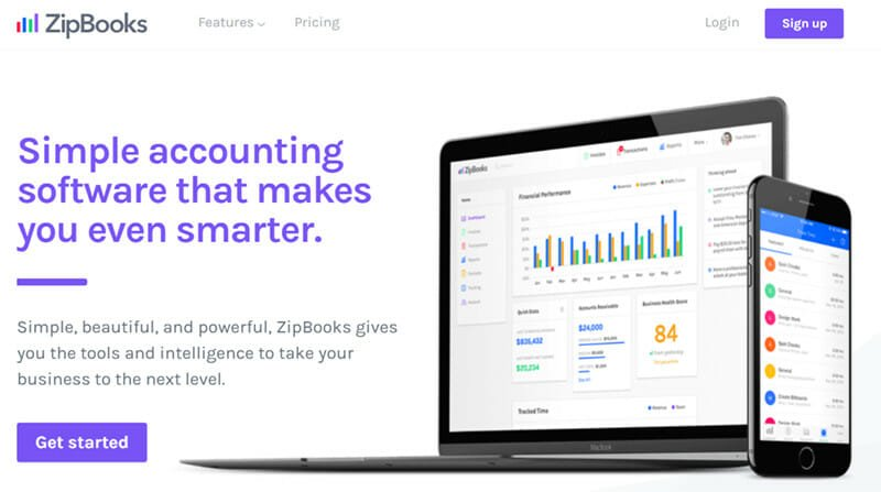 ZipBooks is an easy to use accounting software for small business owner, freelancers and consultants