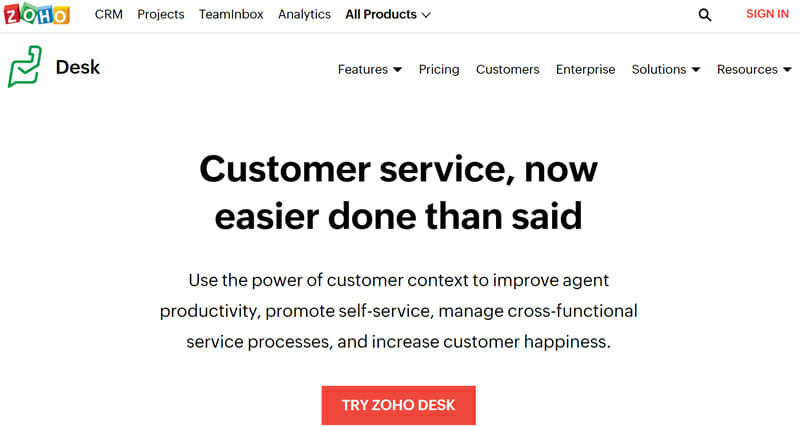 Zoho Desk is the best for Integration of CRM and Ticketing Helpdesk Services for Small to Medium Businesses