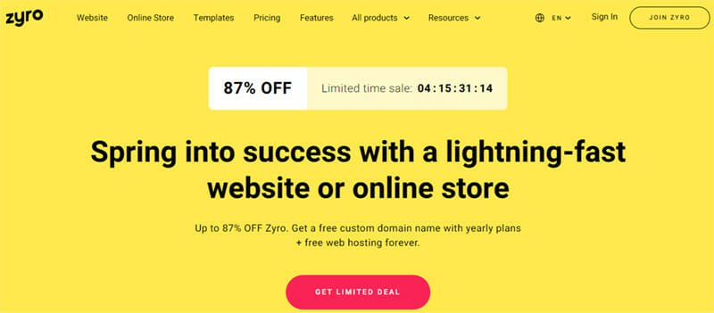 Zyro Ecommerce Platform With Very User Friendly Features