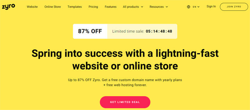 Zyro is an All in one Website Builder With Free AI powered Tools for Small Businesses