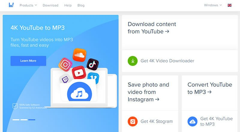 4K Video Downloader is the Best Ad Free YouTube to MP4 Converter For 4K Videos