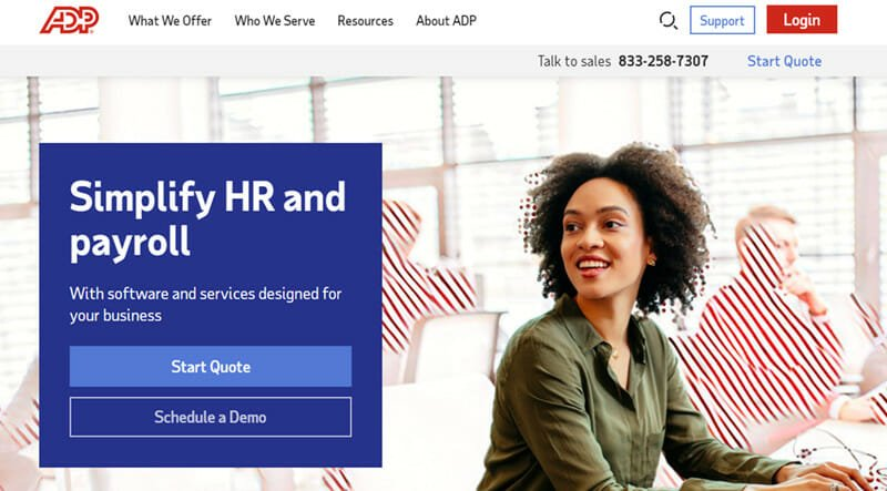 ADP TotalSource is the Best payroll company for combined payroll, HR and PEO services