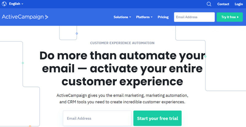 ActiveCampaign is a Cloud based Platform that Combines Automation, Sales, CRM, and Email Marketing