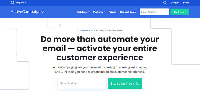 ActiveCampaign is an Email Marketing Tool that Combines Email Marketing, Sales, CRM Tools, and Automation