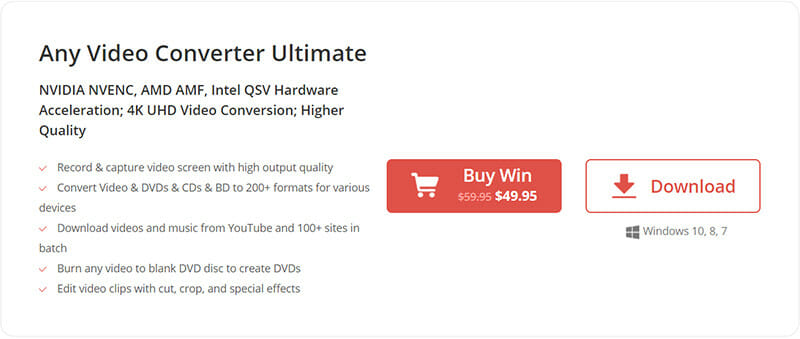 Any Video Converter Pricing Plan