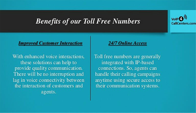 Benefits of Toll Free Numbers