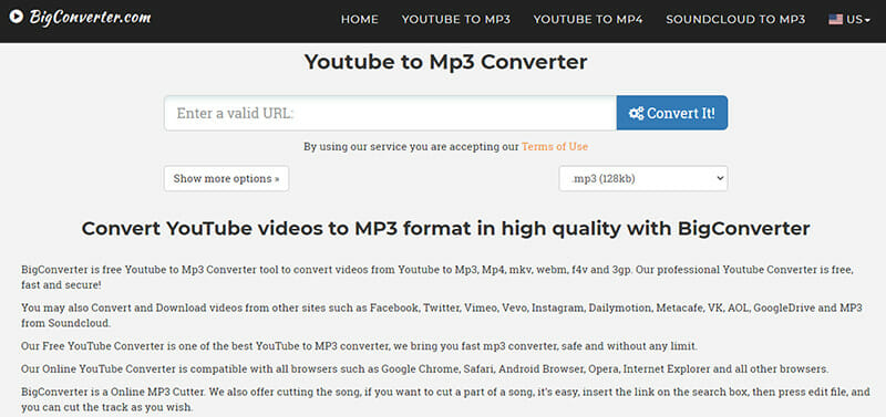 BigConverter is the Perfect Youtube MP3 converter for unlimited downloads