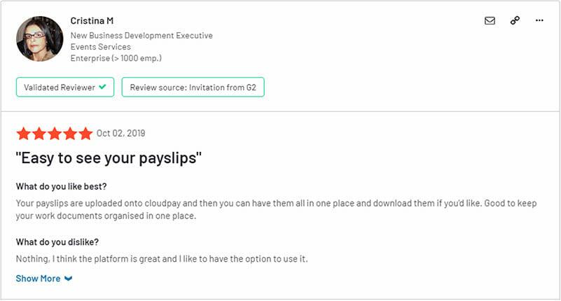 CloudPay Customer Reviews