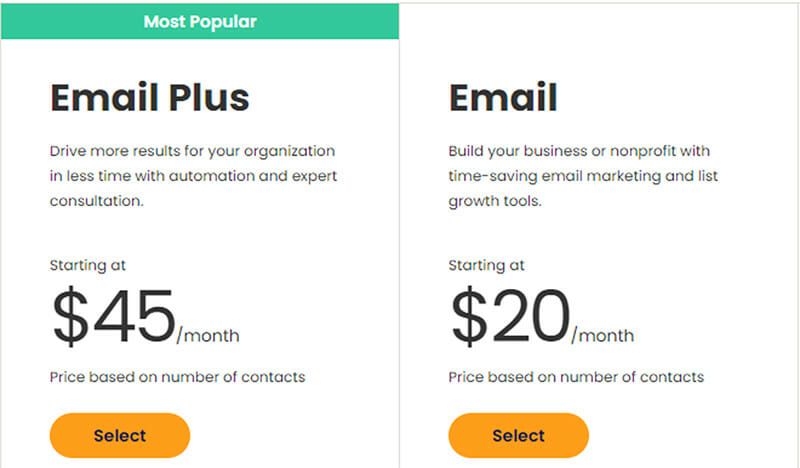 Constant Contact Email Marketing Pricing Plan