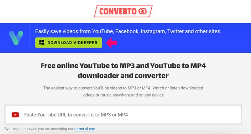 Converto is the Best Youtube MP3 converter for editing downloaded videos