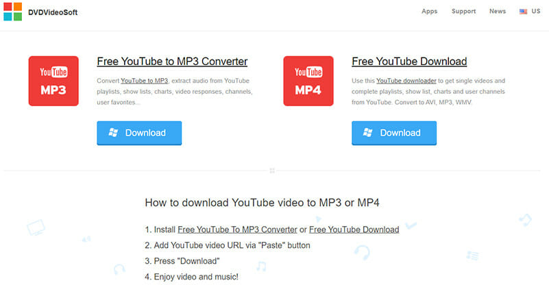 DVDVideoSoft is a valuable desktop Youtube MP3 converter for personal and professional use