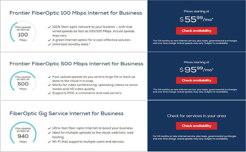 Frontier Communications Internet Pricing Plan