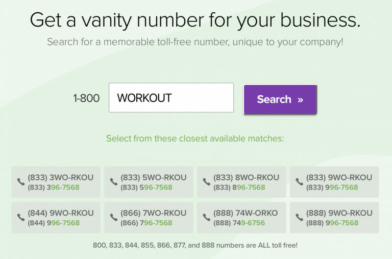 Get a Vanity Number for business