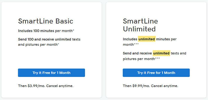 GoDaddy SmartLine Pricing Plan