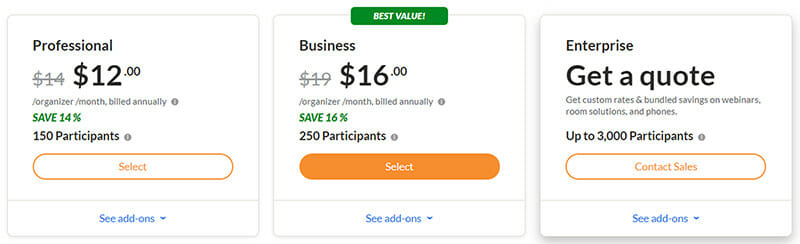 GoToMeeting Pricing Plan