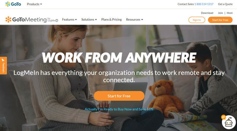 GoToMeeting is the Best Conference Call Platform for Businesses with Remote Teams and for Team Collaboration