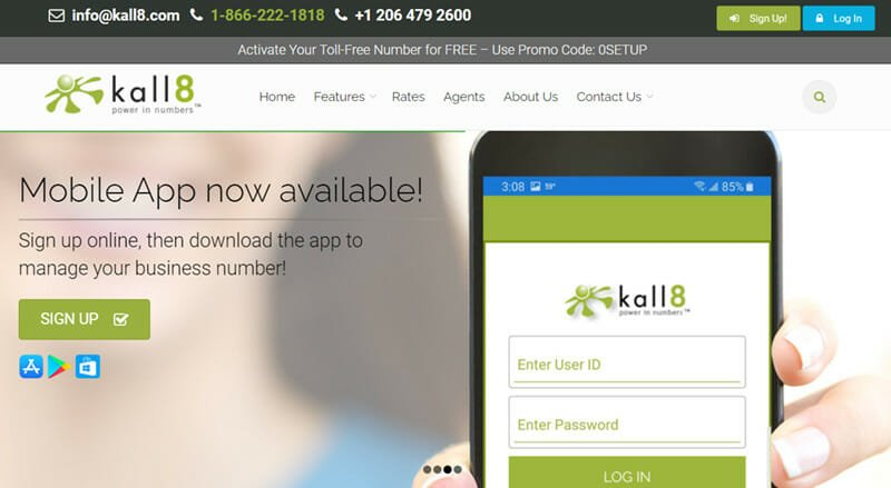 Kall8 is the Best Pay as You Go Free Toll Number Service