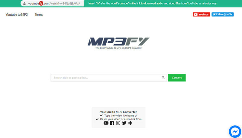MP3FY is the Best Youtube MP3 converter for unlimited download length videos