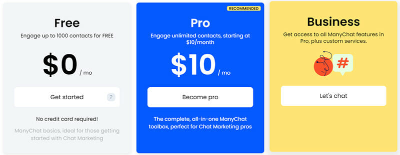 ManyChat Pricing Plan