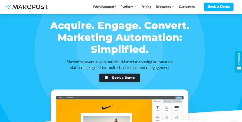 Maropost is a Marketing Automation Platform Designed for Multi Channel Customer Engagement