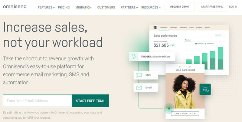 Omnisend is an Omnichannel Marketing Automation for Ecommerce Businesses