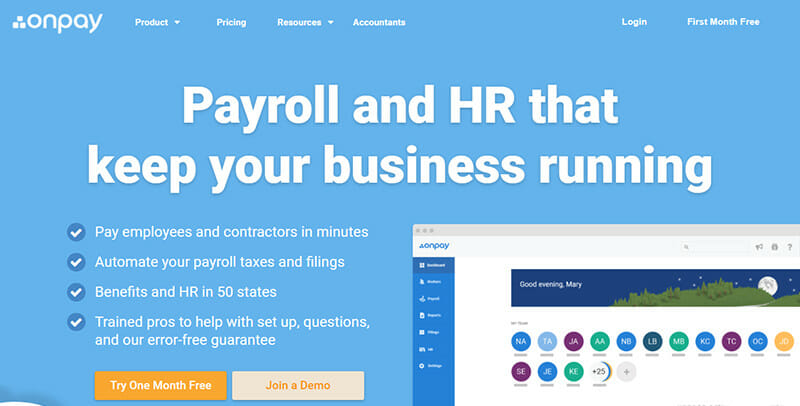 OnPay is the Best Payroll Software for Employers with the Simplest Setup