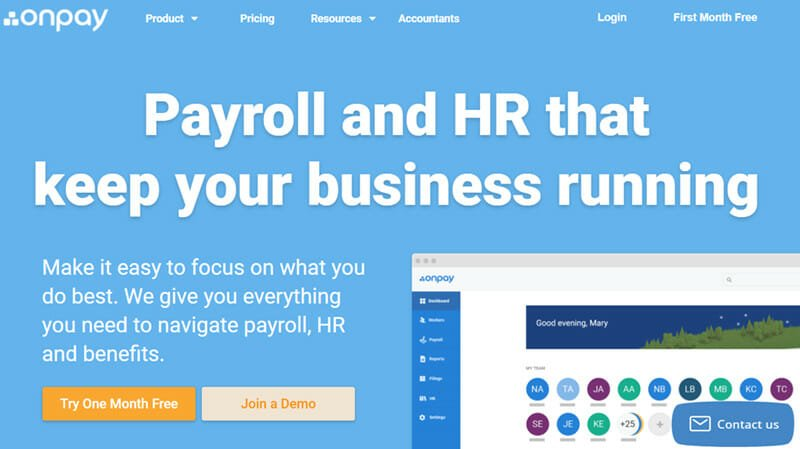 OnPay is the Best cloud based payroll company for unlimited and flexible payrolls solutions