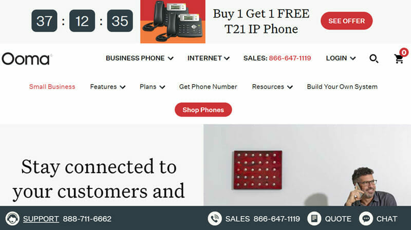 Ooma is the Best 800 Toll Free Number Provider with Additional Minutes at Discounted Rates