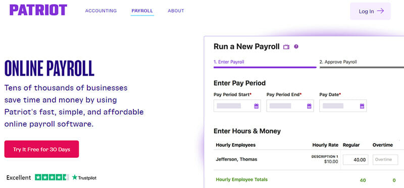 Patriot Software is an Affordable Payroll Software for Small Businesses