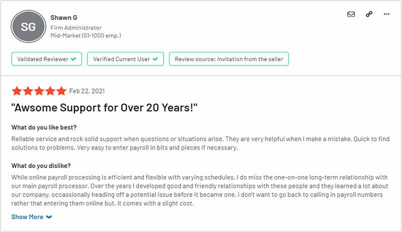 Paychex Customer Reviews