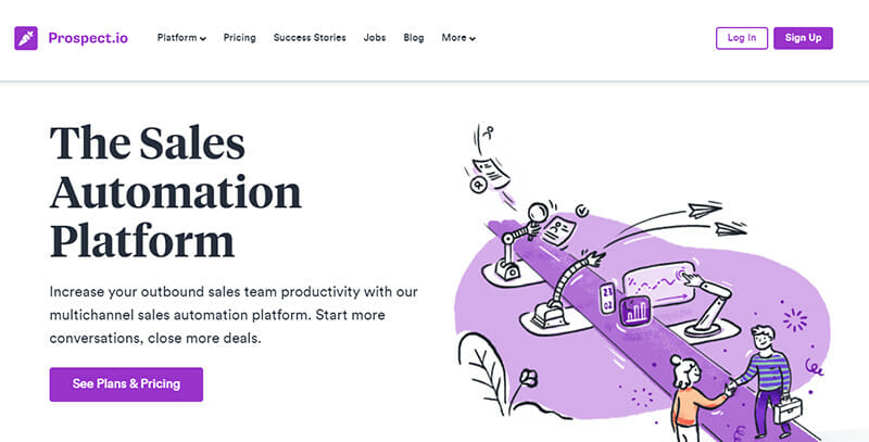 Prospect.io is a Multichannel Sales Automation Platform that Increases Outbound Sales Team Productivity