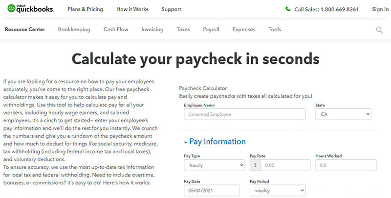 QuickBooks Paycheck Calculator is a Simple and Quick Payroll Tax Calculator