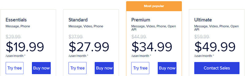 RingCentral Pricing Plan