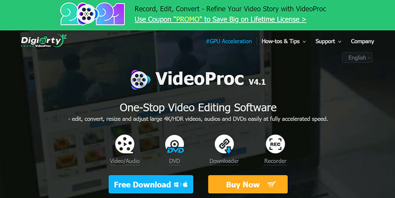 VideoProc is a Powerful Youtube MP3 converter for low CPU resource consumption