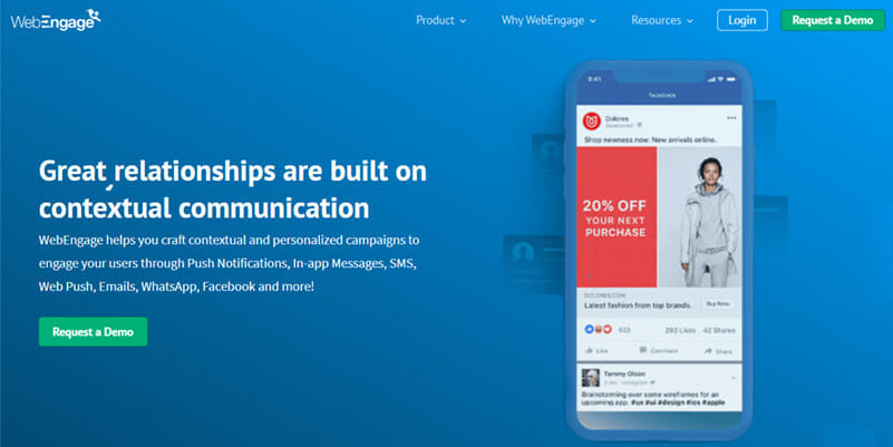 WebEngage is a Marketing Automation Software that Automates Communication Across User's Life Cycle