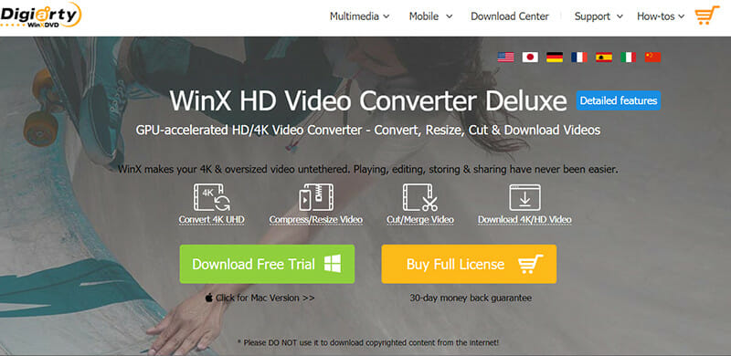 WinX Video Converter is the Best Youtube MP3 converter for compression without compromising quality