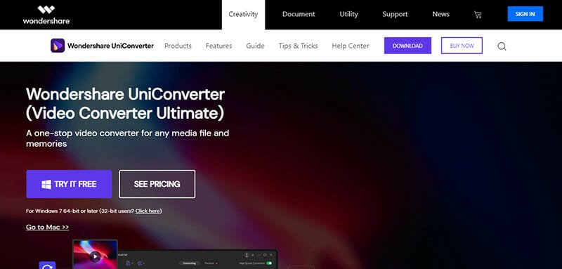 WonderShare UniConverter is an Ideal Youtube MP3 converter for advanced editing demands