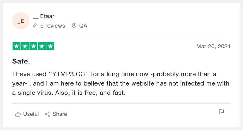 YTMP3 Customer Review