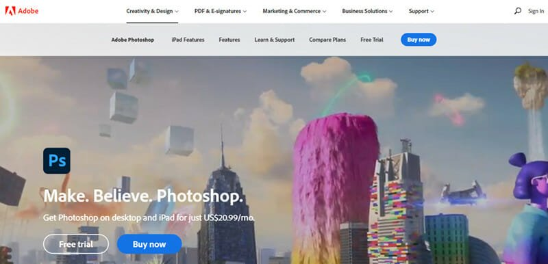 Adobe Photoshop is the Best Graphic Design Software for Image Editing