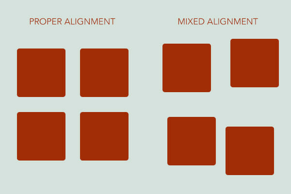 Alignment is a principle of graphic design that keeps the design organized
