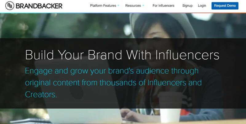 BrandBacker is an Influencer Marketing Solution for Generating Exposure through Social Networks, Vlogs, and Blogs