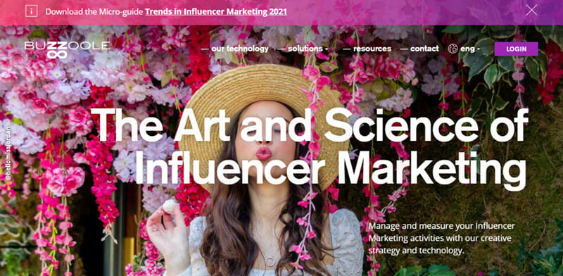 Buzzoole is an Influencer Marketing Platform for Continuous Preference Tracking and Personal Campaign Observation