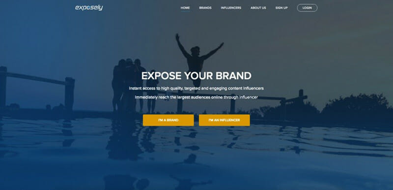 Exposely is the Best Self Service Social Advertising Platform for connecting Brands with Social, Web, and Video Influencers