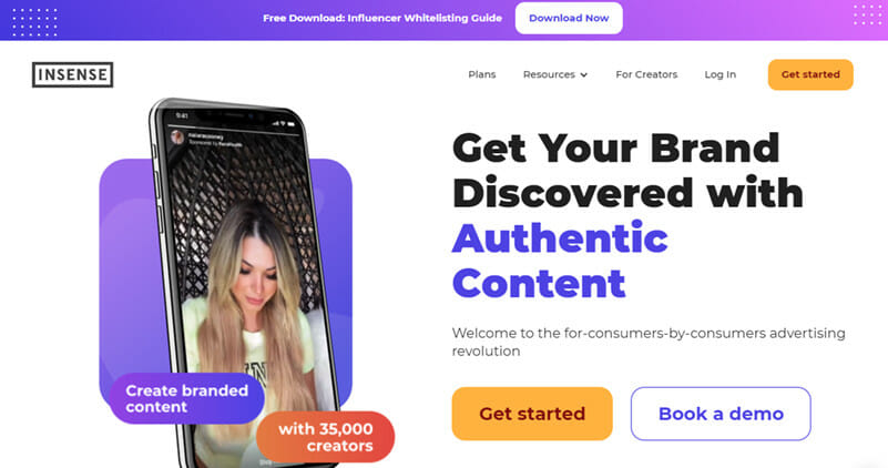 Insense is the Best Influencer Marketing Platform for amplifying Instagram Story Content through Facebook Advertising