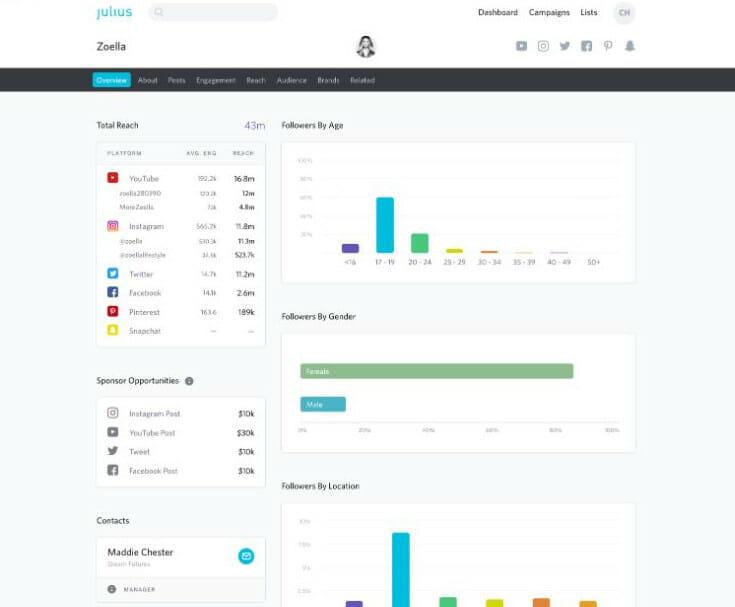 Julius influencer marketing overview
