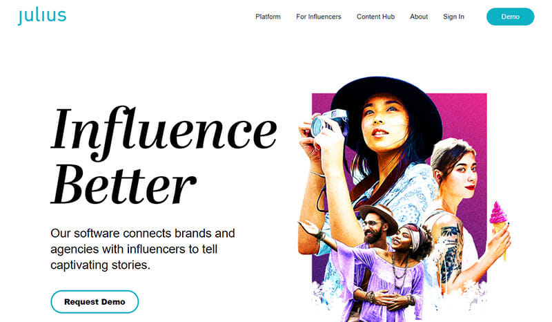 Julius is a Data driven Influencer Marketing Platform with an Easy to Use Search Facility