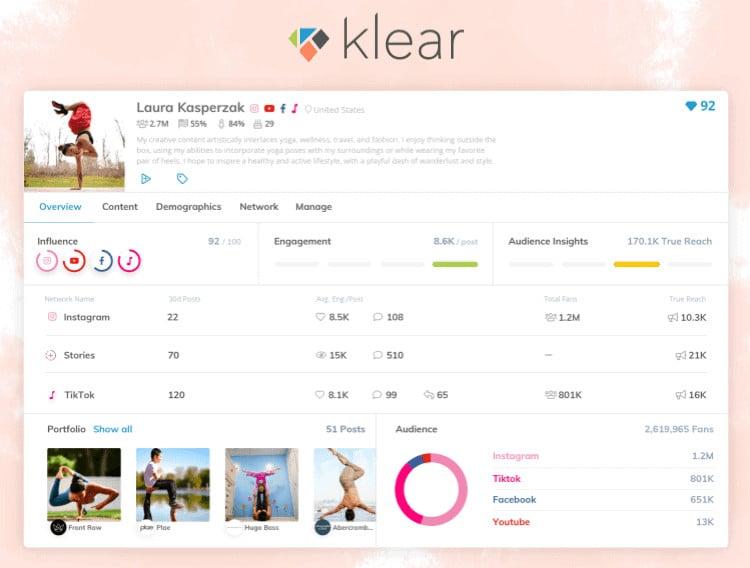 Klear Influencer Marketing Platform