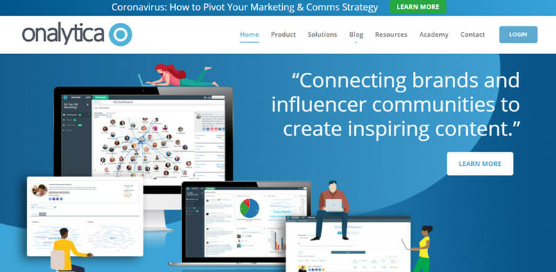 Onalytica is a Data Driven Influencer Marketing Platform with a Hybrid Approach to Influencer Database