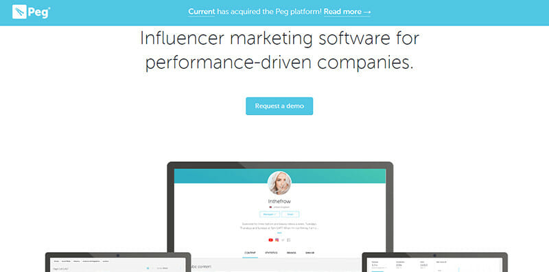 Peg is an Instagram and YouTube Influencer Marketing Platform for Performance Based Marketing